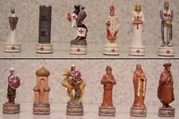 Chess Set Pieces Richard The Lionheart Vs Saladin In The Third Crusades