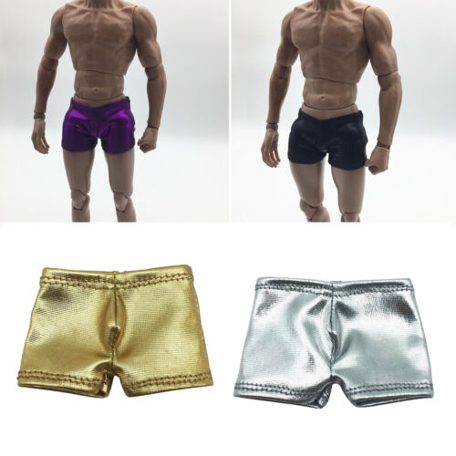 1//6 Artificial Leather Shorts  Brief for 12/'/' Hot Toys Action Figures