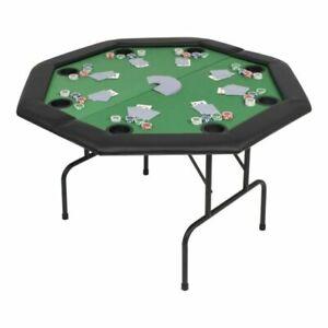 vidaXL 80211 8-Player Folding Poker Table