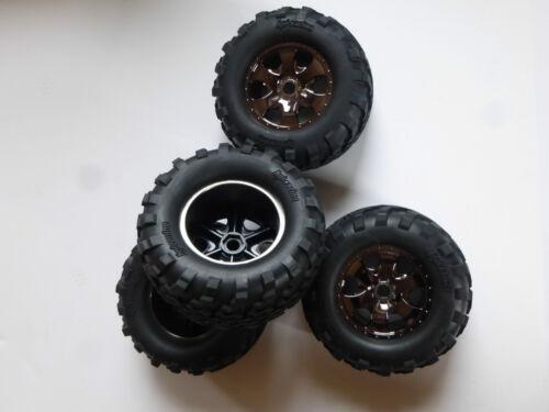 NEU Felge #H105801 HPI Savage 1//8 4 Kompletträder Set aus Reifen #H4462