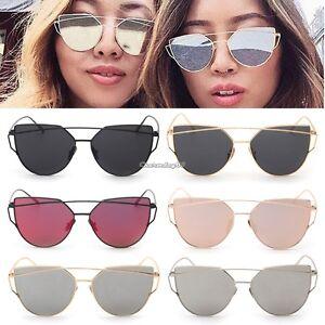 e11a3ec9767 Fashion Women Sunglasses Metal Frame Mirror Big Lens Eyewear Shades ...
