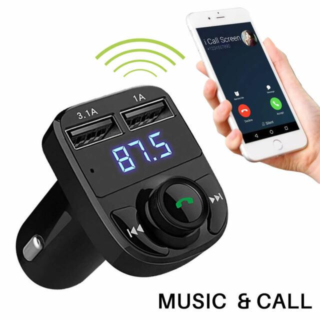 Handsfree Wireless Bluetooth 4.2 FM Transmitter Car Kit Mp3 Player USB Charger
