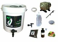Complete Kit 30l White For Tea Compost Aerated : Pump Filter Tea Compost Brewer