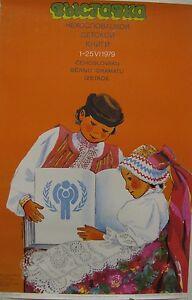 Vintage Soviet Poster, 1979, very rare, 100% original