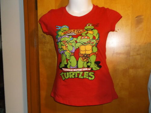 """BRAND NEW TEENAGE MUTANT TURTLE PISS  RED CREW NECK  T/' SHIRT by  /""""NICKOLDEON/"""""""