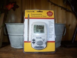TAYLOR-PROGRAMMABLE-THERMOMETER-AND-TIMER-MONITORS-TEMP-INSIDE-THE-OVEN-NEW