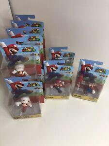 "Nintendo Super Mario 2.5"" Jakks Pacific Figure Lot Of 12 - 9 Fire Mario, 3 Mario"