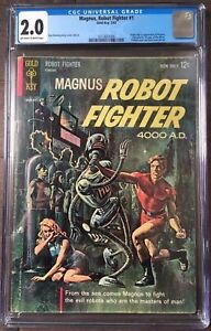 Magnus-Robot-Fighter-1-1963-Gold-Key-CGC-Graded-1st-appearance-of-Magnus