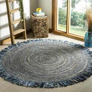 Ft Braided Floor Round Jute Cotton