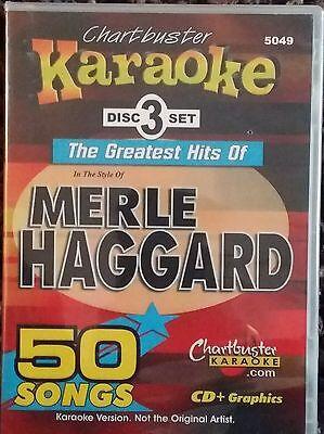 3 Disc Box Set 50 Tracks New Harmonious Colors Chartbuster Karaoke Cdg Merle Haggard 5049