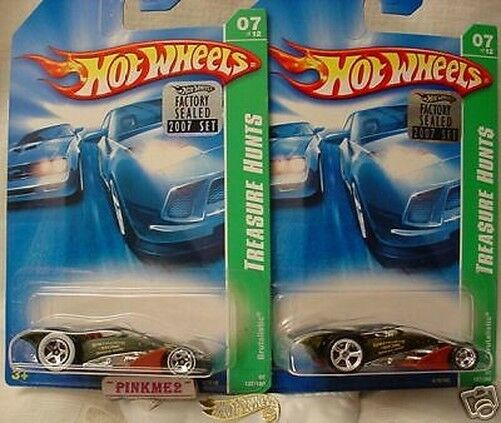 2007 Treasure Hunt Super & Regular BRUTALISTIC Master set Hot Wheels