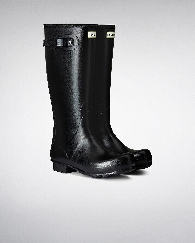 Hunter Hunter Hunter Wellington Boots wellies homme original Norris Noir Taille 10 163878