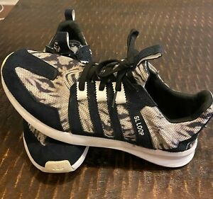 ADIDAS-SL-Loop-Shoes-Black-and-White-Men-s-Size-11-Worn-good-condition