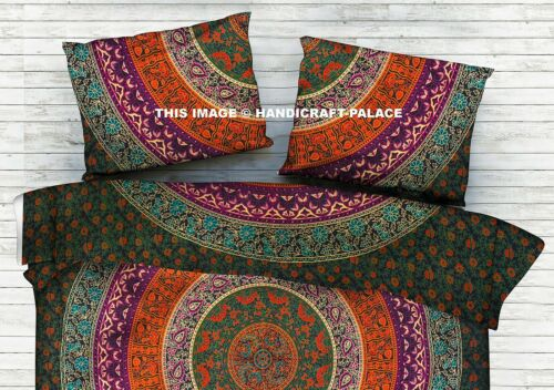 Indian Mandala Queen Size Bedding Set Bohemian Hippie Bed Sheet Bed Cover Throw