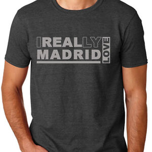 9a39c8c2666 Gray I Really Love Real Madrid FC Soccer T Shirt Custom Gildan ...