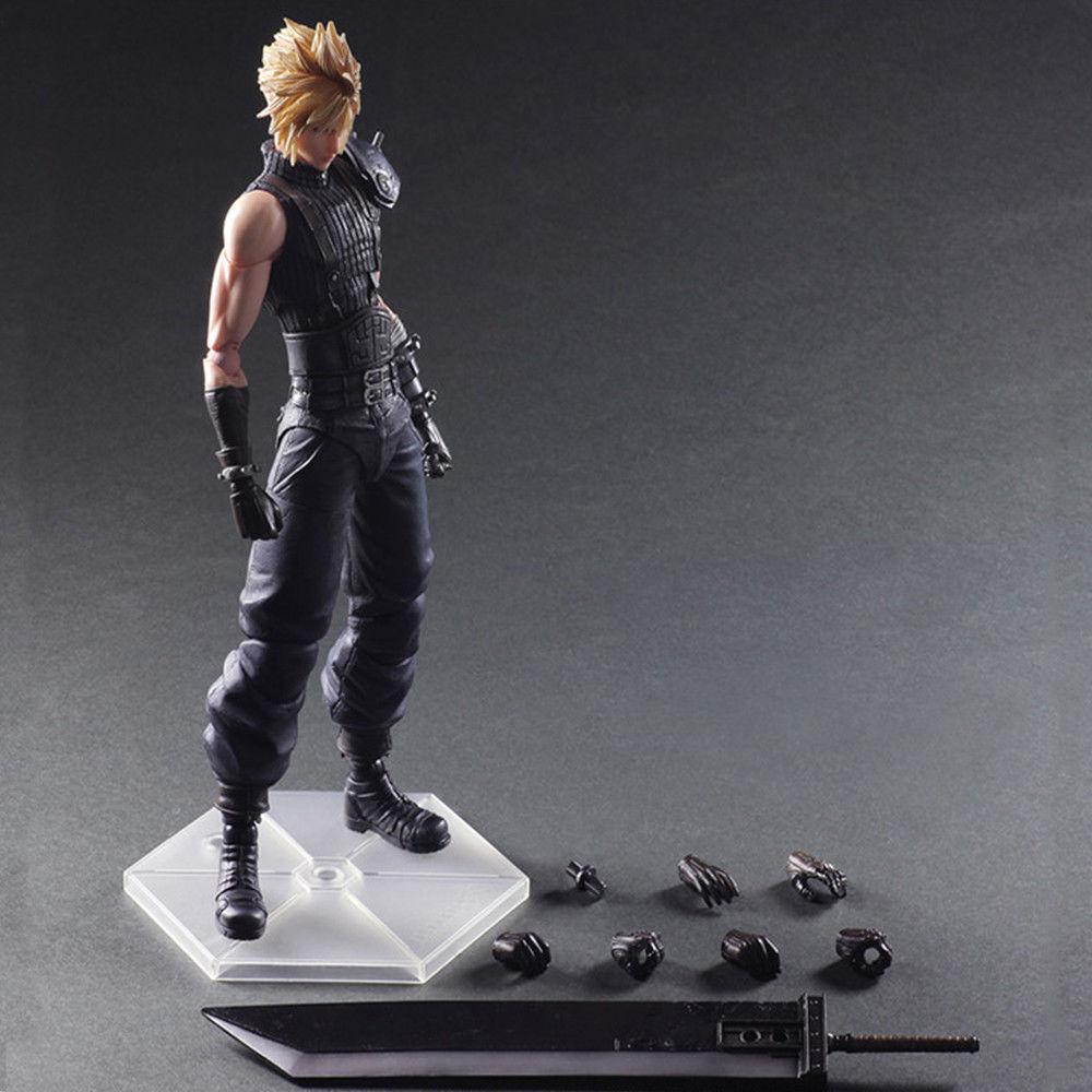 Play Arts Kai Final Fantasy Fantasy Fantasy VII Cloud Strife Action Figure Collection Statue Toy bec652
