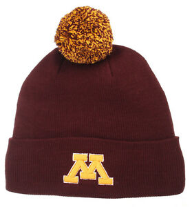 huge discount 6350b 9bc23 Image is loading MINNESOTA-GOLDEN-GOPHERS-NCAA-VINTAGE-KNIT-BEANIE-POM-
