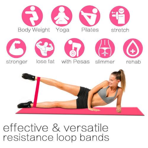 Resistance Bands Tube Workout Exercise Elastic Band Fitness Equipment Yoga UK