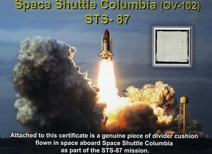 STS-87-Fabric-Flown-on-Space-Shuttle-Columbia-NASA-With-Documentation