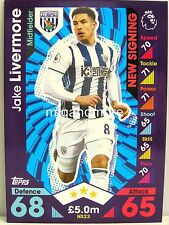Match Attax 2016/17 Premier League -  NS23 Jake Livermore - New Signing