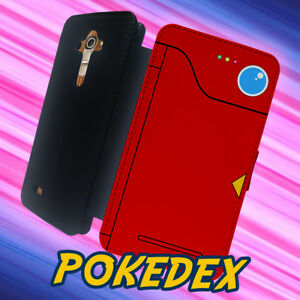 quality design a2a6a 48599 Details about Pokedex Pokemon Red Anime Poke mon for LG G4 LG G5 Flip  Wallet Phone Case