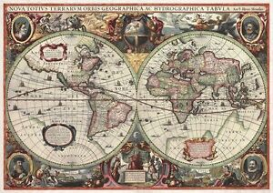 image is loading antique world map 16th century vintage photo wallpaper