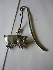 Pig codeppa12 Made From Fine English Pewter On A PATTERN Bookmark