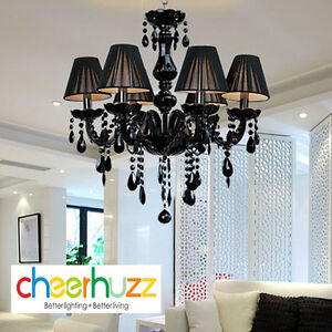 Details About New Modern Black Murano Gl Crystal Chandelier Light Pendant Lamp Ceiling D72