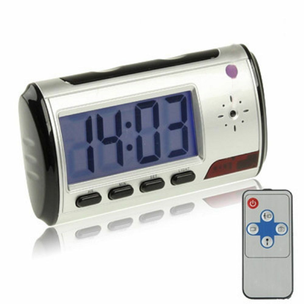 8GB HD Reloj de Mesa con Escondido Mini Cámara Spion Voz Imagen Vídeo Spy Cam A3