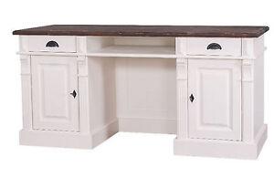 Sanft Schreibtisch Sehr Groß Massiv Holz Sekretär Tisch Gründerzeit Stil Massivholz Weich Und Leicht