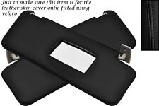BLACK STITCH FITS MERCEDES E CLASS W124 83-95 2X SUN VISORS COVERS ONLY