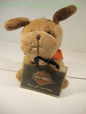 Harley Davidson Motor Cycles 2007 HD Puppy Dog Gift Card Pouch Brown Scarf Bike