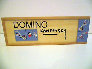 KANDINSKY DOMINO 28 TILE SET BLEU DE CIEL SKY BLUE IN WOODEN BOX | eBay