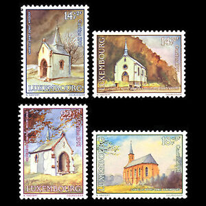 Luxembourg-1991-Chapels-034-Charity-Issue-034-Architecture-Art-Sc-B379-82MNH