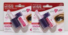 2x KISS Strip Lash Adhesive 6g Eyelashes Adhesive Eyelashes Glue MADE IN KOREA
