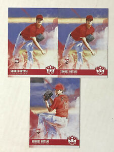 SHOHEI OHTANI LOT OF 3 2018 Diamond Kings VARIATION SP RC #73 + BASE RC #73 (x2)