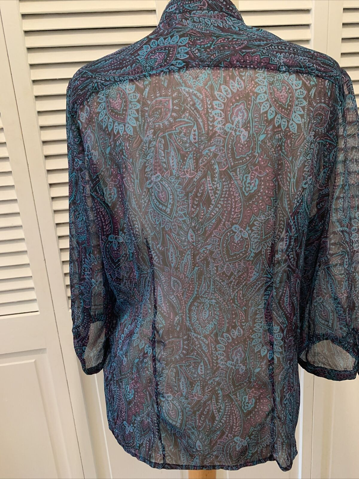 Christopher and banks women's blue paisley blouse… - image 5