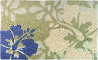 Hawaiian Hibiscus Floral Rug Bath Floor Door Mat Hawaii Island Home Decor 30x18