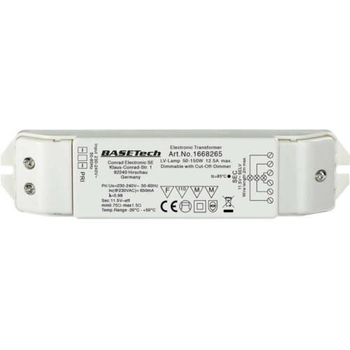 Transformateur pour halogène Basetech ET-150 12 V 50-150 W dimmable avec