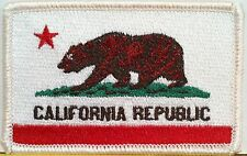 CALIFORNIA Flag Military Patch With VELCRO® Brand Fastener White Border