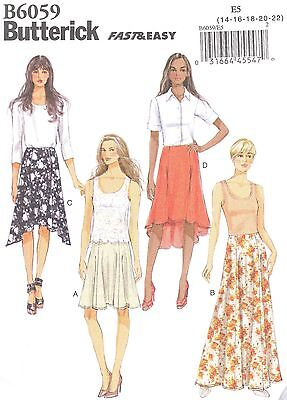 Butterick 3972 Misses/' Skirt  Sewing Pattern