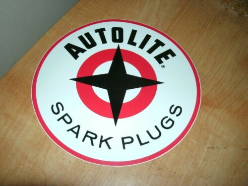 "6/"" ROUND FORD AUTOLITE SPARK PLUG SPARK PLUGS VINTAGE STAR LOGO DECAL STICKER"