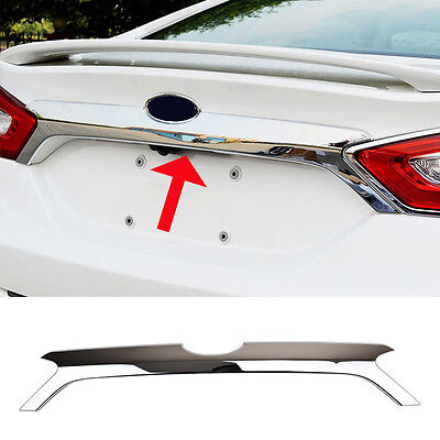 Fit For Ford Fusion Mondeo 13-16 Chrome Rear Door Trunk Lid Tailgate Cover Trim