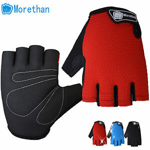 Cycling Racing Road Mountain Bicycle Non-slip Sports Lycra Half Finger Gloves