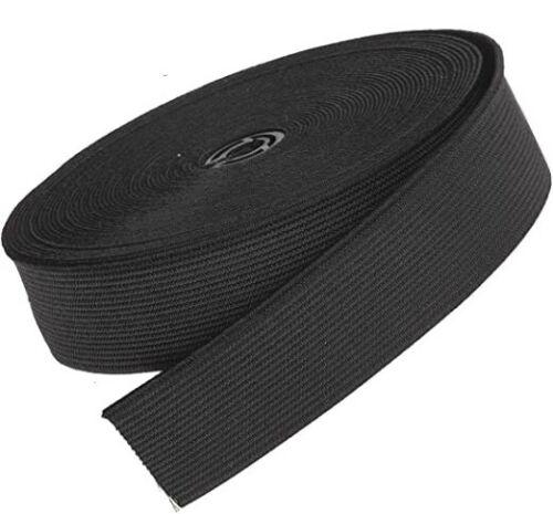 """Piatto in tessuto elastico 25/""""mm 2.5/"""" cm 1 Pollici Di Larghezza Sartoria Cucito Artigianato elastico"""