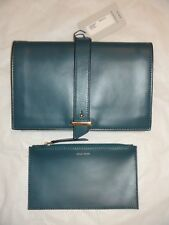 6fe6ac7d3c2 Cole Haan Peacock Green Vestry Clutch w/ Removable Coin Pouch TECH SAFE  RFID NWT