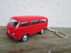 porte-cle-volkswagen-bus-combi-T2-neuf-rouge-en-metal