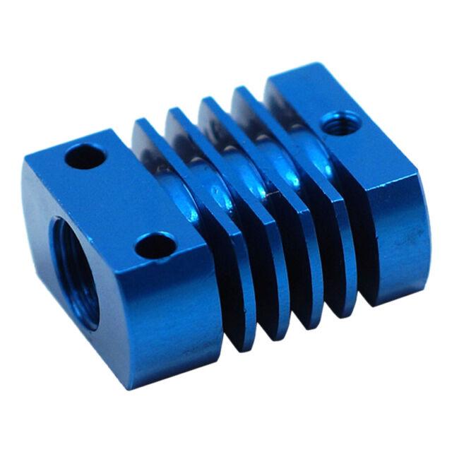 22x27mm Aluminum Heat Sink Cooling Blocks For 3D Printer Extruder MK10 Blue P6M4