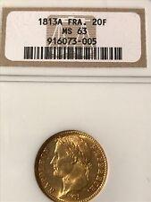Napoleon gold 20 franks 1813 A  NGC MS-63