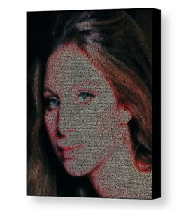 Details about Barbra Streisand People WOW Lyrics Mosaic Framed Print  Limited Edition w/COA
